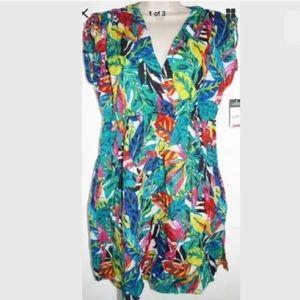 Ralph Lauren Floral Bikini Swimsuit Cover-up Dress